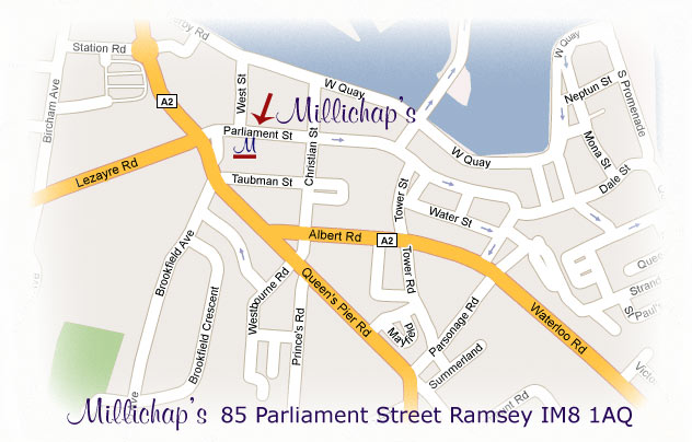 Store Location Millichaps of Ramsey IOM Isle of Man The leading